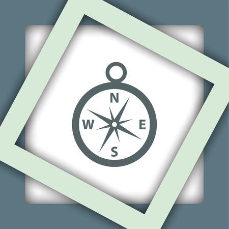 compass vector: compass vector icon