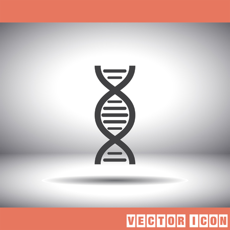 gene on a chromosome: dna chain vector icon Illustration