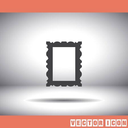Cadre photo icône Banque d'images - 52698375