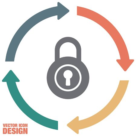 protected: lock vector icon