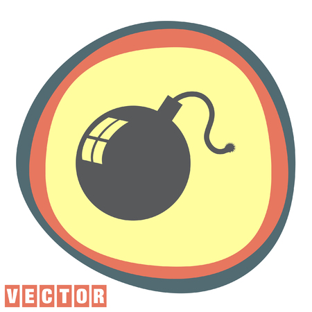 bomb: bomb vector icon Illustration