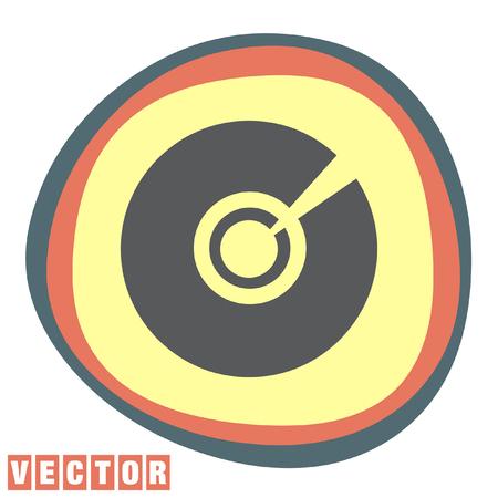 dvd rom: cd dvd vector icon