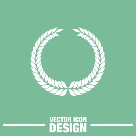 decorations wreaths: laurel wreath symbol vector icon