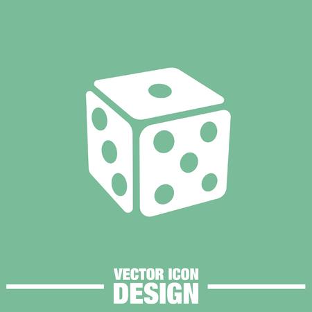 gambling: gambling dice vector icon