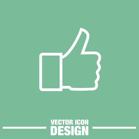 finger up: thumb up vector icon