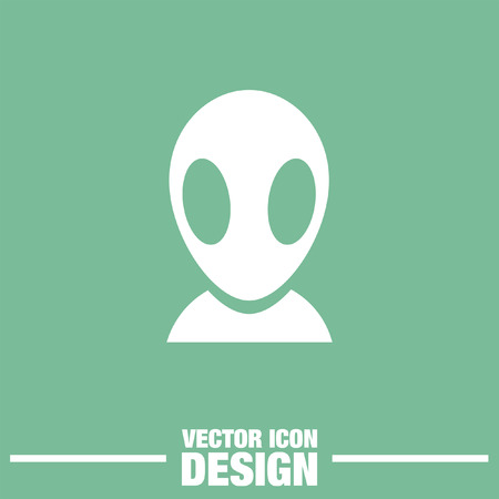 alien cartoon: alien vector icon