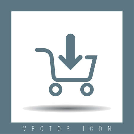 e commerce icon: add to shopping cart vector icon