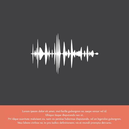 pulse: audio signal vector icon Illustration