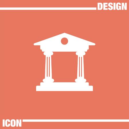 roman pillar: Institution vector icon