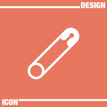diaper pins: safety pin vector icon