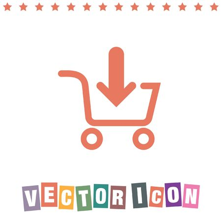 add to cart: add to shopping cart icon Illustration