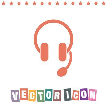 helpline: headphones headset icon Illustration