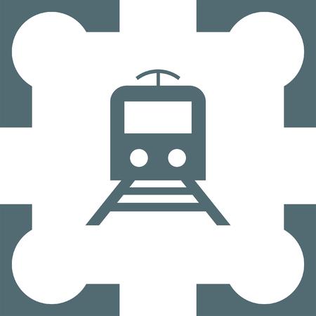 subway: subway metro icon Illustration