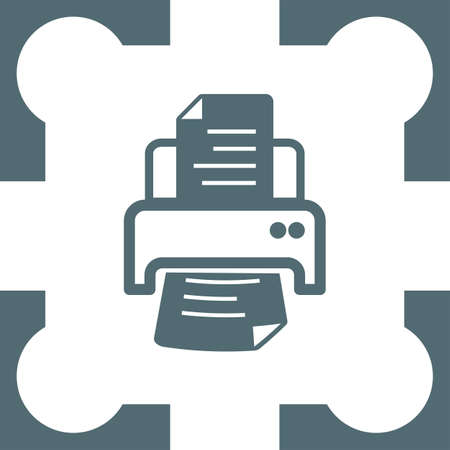 ink jet: printer icon Illustration