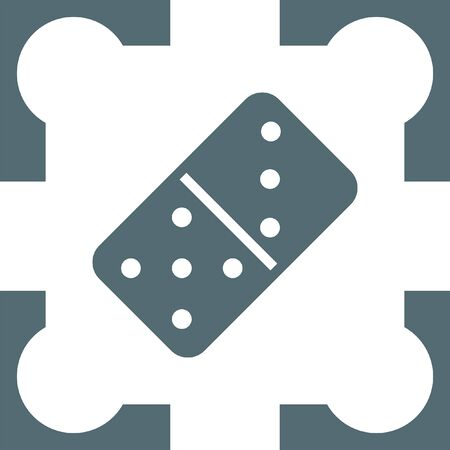 dominoes: dominoes icon Illustration