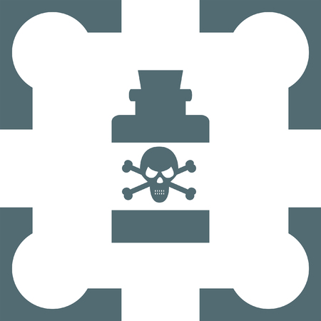 poison bottle: bottle with poison icon Illustration