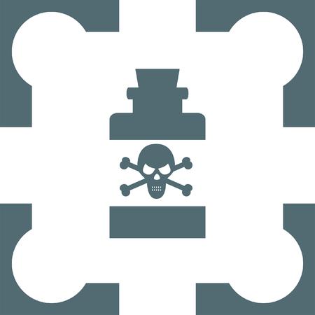 poison: bottle with poison icon Illustration