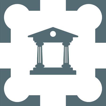 roman pillar: Institution icon Illustration
