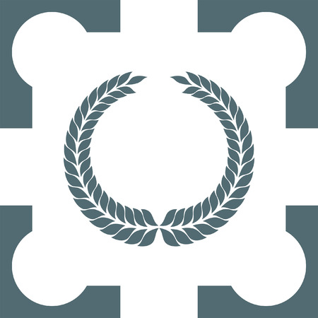 decorations wreaths: laurel wreath symbol icon