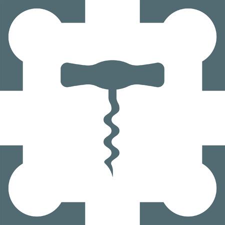 cork screw: corkscrew icon