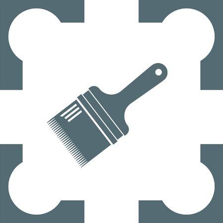 flat brush: paint brush flat icon