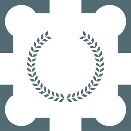 decorations wreaths: laurel wreath icon