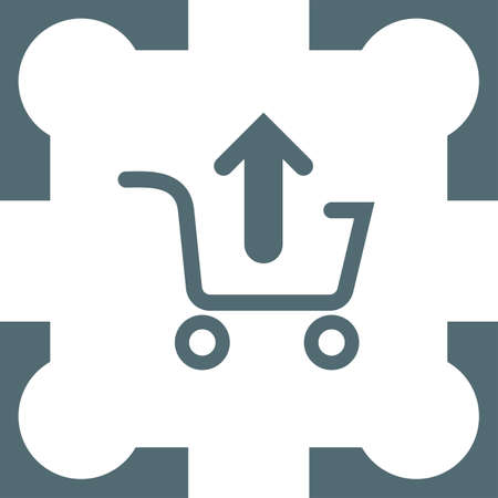 e commerce icon: remove from shopping cart icon