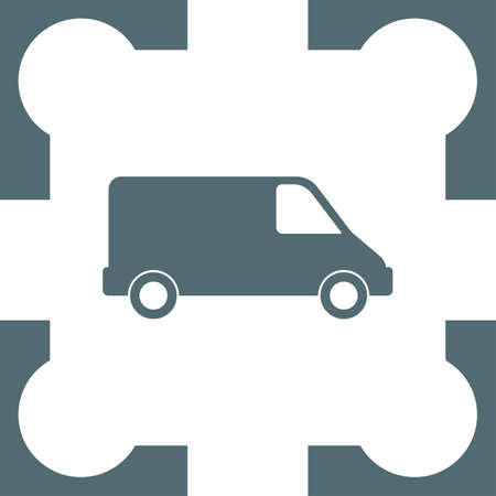 commercial: commercial van icon Illustration
