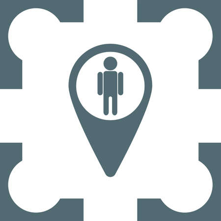 street view: map pin street view icon Illustration