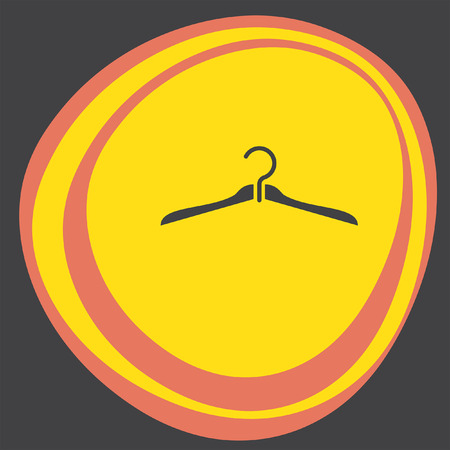 clothing rack: hanger icon Illustration
