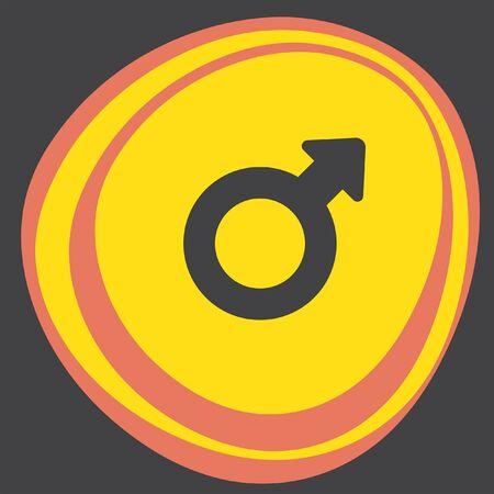 male symbol: male gender symbol icon
