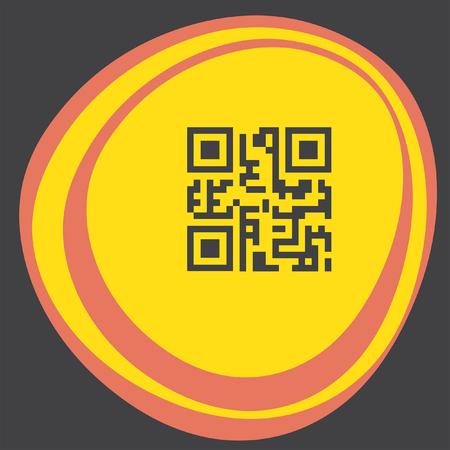 qrcode: qr code icon Illustration