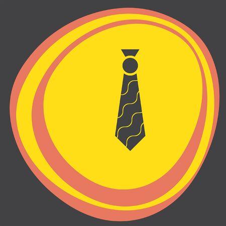 formal shirt: tie icon Illustration