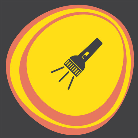 pocket flashlight: flashlight icon Illustration