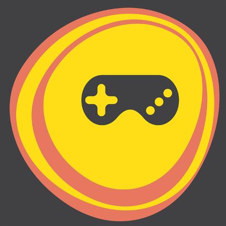 the gamepad: game controller gamepad icon Illustration