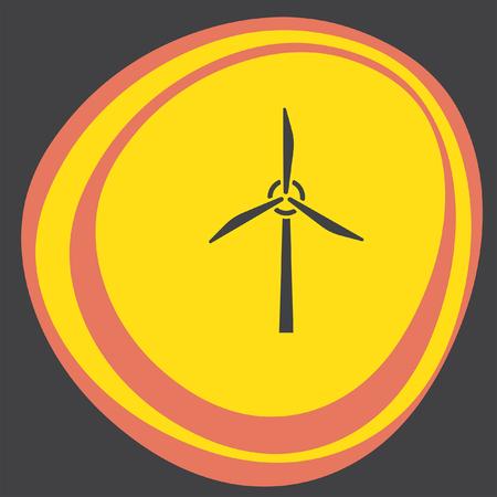 wind generator: wind generator icon Illustration