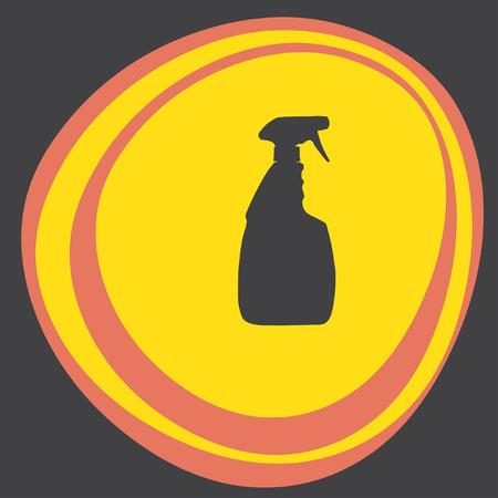 household: household cleaning bottle Illustration
