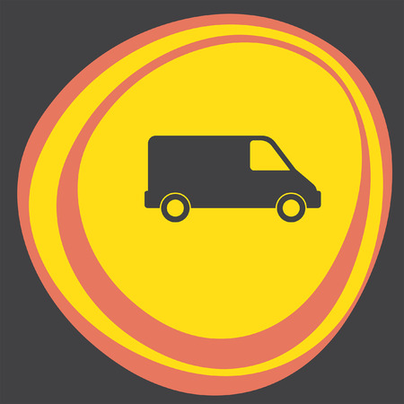commercial van: commercial van icon Illustration