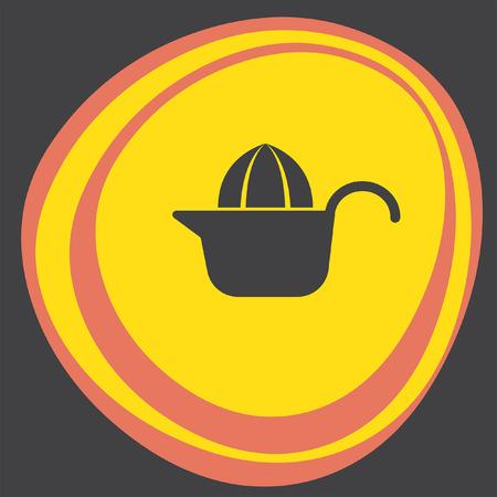 squeezer: citrus squeezer icon Illustration