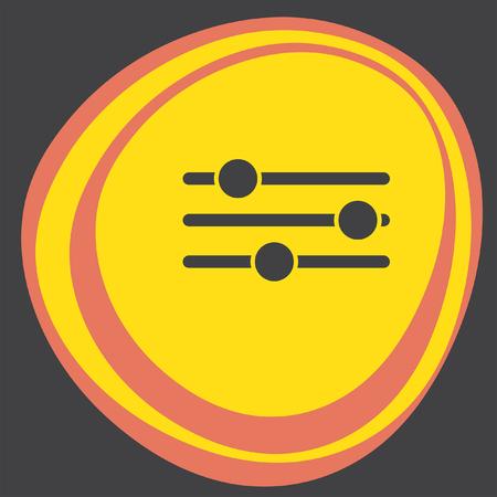sliders: sliders icon Illustration