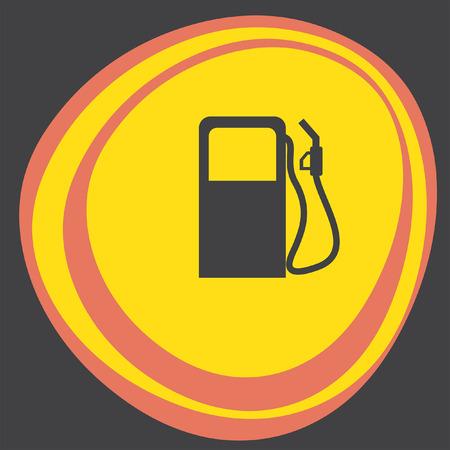 benzine: gas station pump icon Illustration