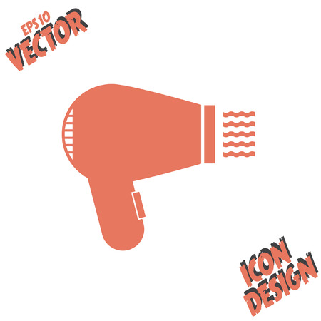 hairdryer: hairdryer vector icon Illustration