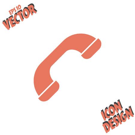 phone: phone flat vector icon