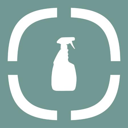 household: household cleaning bottle vector