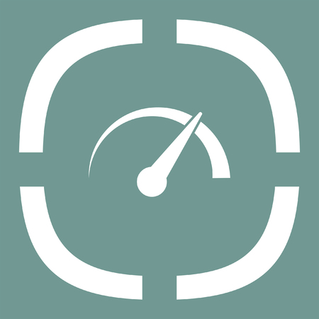 indicator panel: gauge speedometer vector icon Illustration