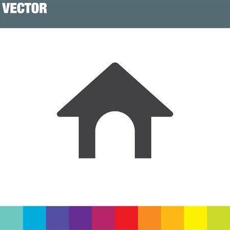 Hundehaus-Vektor-Symbol Vektorgrafik