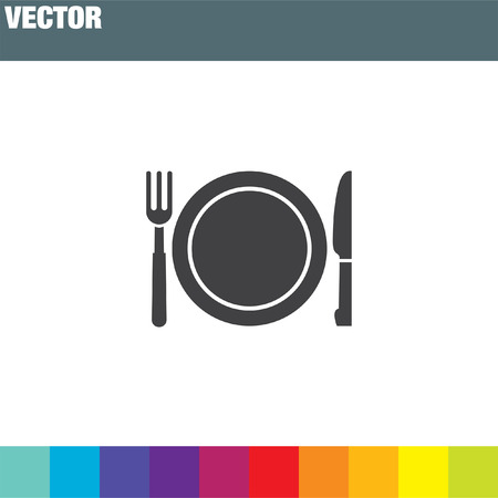 fork and knife menu vector icon Stock Vector - 53266240