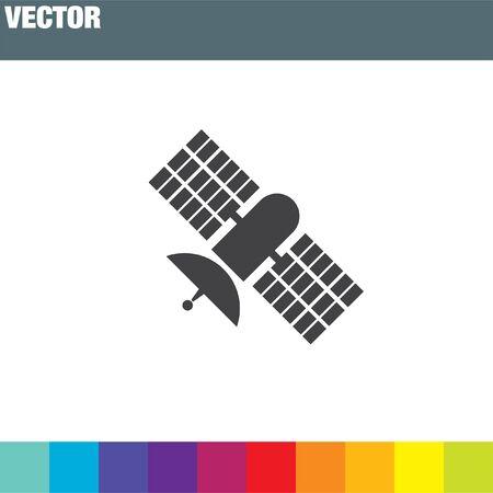 space antenna: satellite vector icon