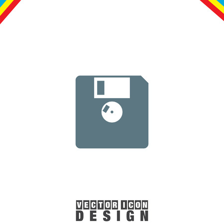 diskette: Diskette vector icon