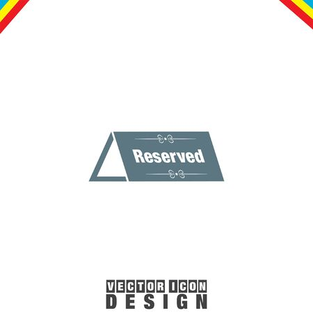 reserved: Reserved Table vector icon